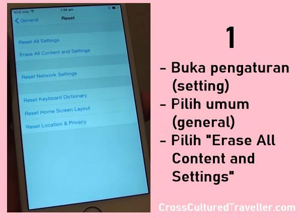 Cara Reset iPhone 6 Manual ke Pengaturan Pabrik (Factory Reset) dengan Mudah