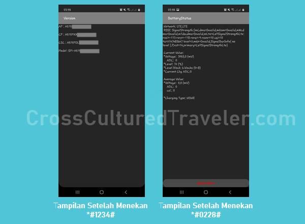 Beberapa Contoh Penggunaan Kode Rahasia pada Smartphone Samsung